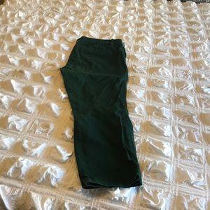 Dark Green Wool Dress Pants